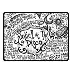 Panic! At The Disco Lyric Quotes Fleece Blanket (Small) 50 x40 Blanket Front