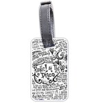 Panic! At The Disco Lyric Quotes Luggage Tags (Two Sides) Back