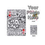 Panic! At The Disco Lyric Quotes Playing Cards 54 (Mini)  Front - Heart3