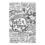Panic! At The Disco Lyric Quotes Shower Curtain 48  x 72  (Small)  42.18 x64.8 Curtain