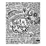 Panic! At The Disco Lyric Quotes Shower Curtain 60  x 72  (Medium)  54.25 x65.71 Curtain