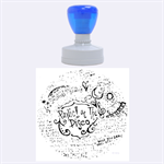 Panic! At The Disco Lyric Quotes Rubber Round Stamps (Large) 1.875 x1.875  Stamp