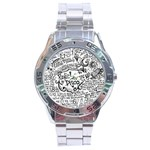Panic! At The Disco Lyric Quotes Stainless Steel Analogue Watch Front