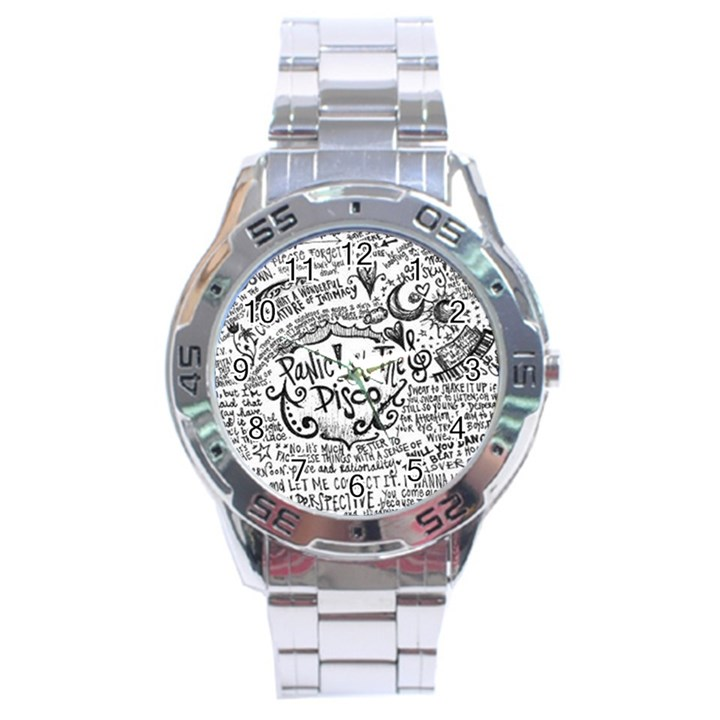 Panic! At The Disco Lyric Quotes Stainless Steel Analogue Watch