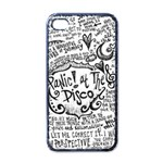 Panic! At The Disco Lyric Quotes Apple iPhone 4 Case (Black) Front