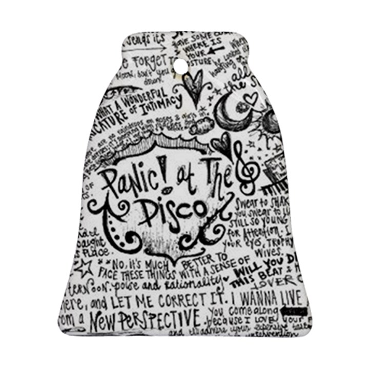 Panic! At The Disco Lyric Quotes Ornament (Bell)