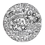 Panic! At The Disco Lyric Quotes Round Filigree Ornament (2Side) Front