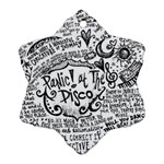 Panic! At The Disco Lyric Quotes Snowflake Ornament (2-Side) Back
