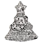Panic! At The Disco Lyric Quotes Christmas Tree Ornament (2 Sides) Back