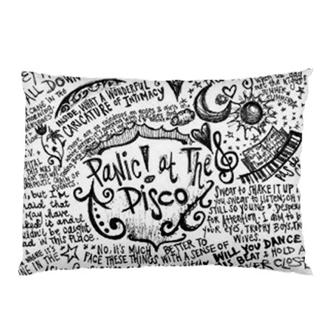 Panic! At The Disco Lyric Quotes Pillow Case (Two Sides)