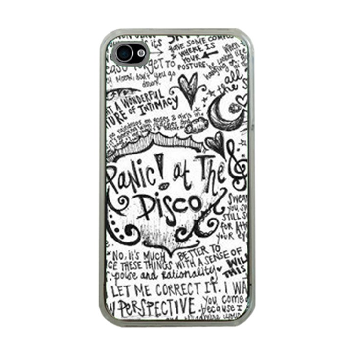 Panic! At The Disco Lyric Quotes Apple iPhone 4 Case (Clear)