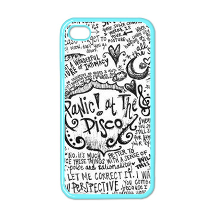 Panic! At The Disco Lyric Quotes Apple iPhone 4 Case (Color)