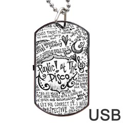 Panic! At The Disco Lyric Quotes Dog Tag Usb Flash (one Side)