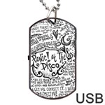 Panic! At The Disco Lyric Quotes Dog Tag USB Flash (One Side) Front