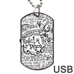 Panic! At The Disco Lyric Quotes Dog Tag USB Flash (Two Sides)  Back
