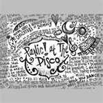 Panic! At The Disco Lyric Quotes Deluxe Canvas 18  x 12   18  x 12  x 1.5  Stretched Canvas