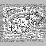 Panic! At The Disco Lyric Quotes Deluxe Canvas 20  x 16   20  x 16  x 1.5  Stretched Canvas