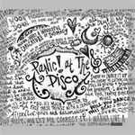 Panic! At The Disco Lyric Quotes Deluxe Canvas 24  x 20   24  x 20  x 1.5  Stretched Canvas