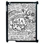 Panic! At The Disco Lyric Quotes Apple iPad 2 Case (Black) Front