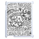 Panic! At The Disco Lyric Quotes Apple iPad 2 Case (White) Front