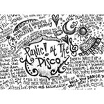 Panic! At The Disco Lyric Quotes Heart 3D Greeting Card (7x5) Back