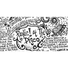 Panic! At The Disco Lyric Quotes You Are Invited 3d Greeting Card (8x4)