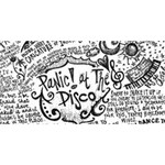 Panic! At The Disco Lyric Quotes Twin Heart Bottom 3D Greeting Card (8x4) Front