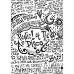 Panic! At The Disco Lyric Quotes LOVE Bottom 3D Greeting Card (7x5) Inside