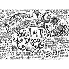 Panic! At The Disco Lyric Quotes Birthday Cake 3D Greeting Card (7x5)