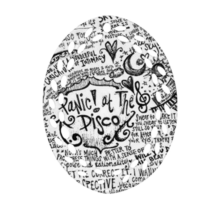 Panic! At The Disco Lyric Quotes Ornament (Oval Filigree)