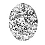 Panic! At The Disco Lyric Quotes Oval Filigree Ornament (2-Side)  Back