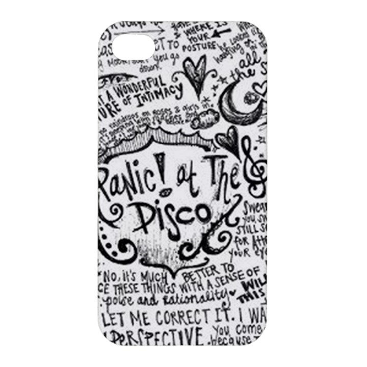 Panic! At The Disco Lyric Quotes Apple iPhone 4/4S Hardshell Case