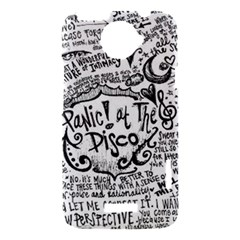 Panic! At The Disco Lyric Quotes HTC One X Hardshell Case