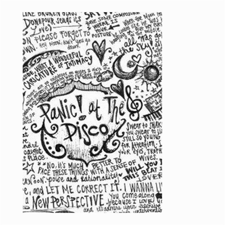 Panic! At The Disco Lyric Quotes Small Garden Flag (Two Sides)