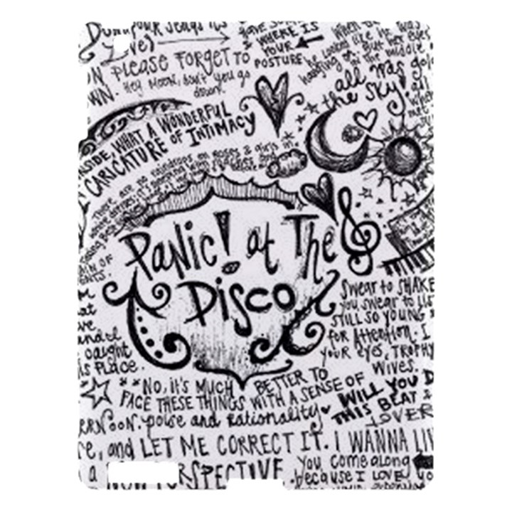 Panic! At The Disco Lyric Quotes Apple iPad 3/4 Hardshell Case