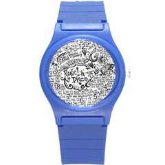 Panic! At The Disco Lyric Quotes Round Plastic Sport Watch (s)