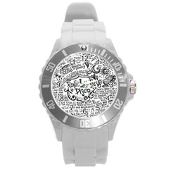 Panic! At The Disco Lyric Quotes Round Plastic Sport Watch (L)