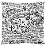 Panic! At The Disco Lyric Quotes Large Cushion Case (Two Sides) Back
