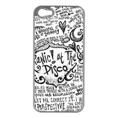Panic! At The Disco Lyric Quotes Apple Iphone 5 Case (silver)