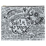 Panic! At The Disco Lyric Quotes Cosmetic Bag (XXXL)  Front