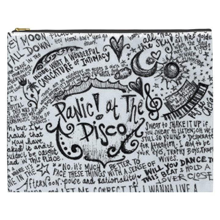 Panic! At The Disco Lyric Quotes Cosmetic Bag (XXXL)