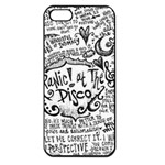 Panic! At The Disco Lyric Quotes Apple iPhone 5 Seamless Case (Black) Front