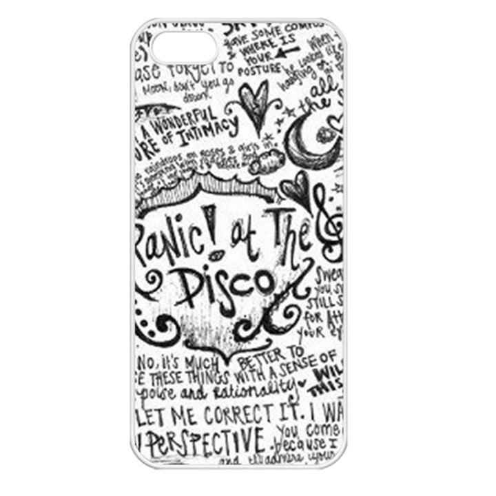 Panic! At The Disco Lyric Quotes Apple iPhone 5 Seamless Case (White)