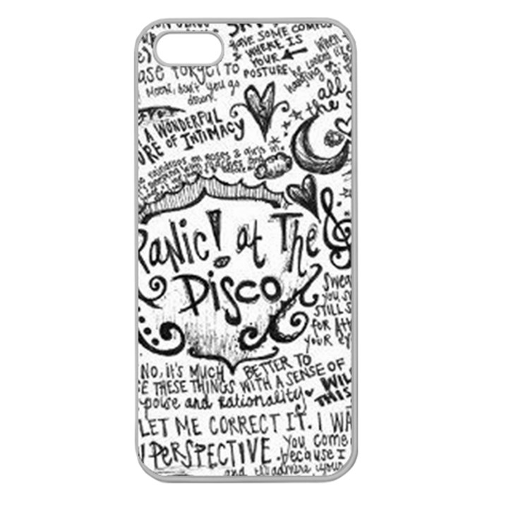 Panic! At The Disco Lyric Quotes Apple Seamless iPhone 5 Case (Clear)