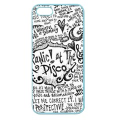 Panic! At The Disco Lyric Quotes Apple Seamless Iphone 5 Case (color)