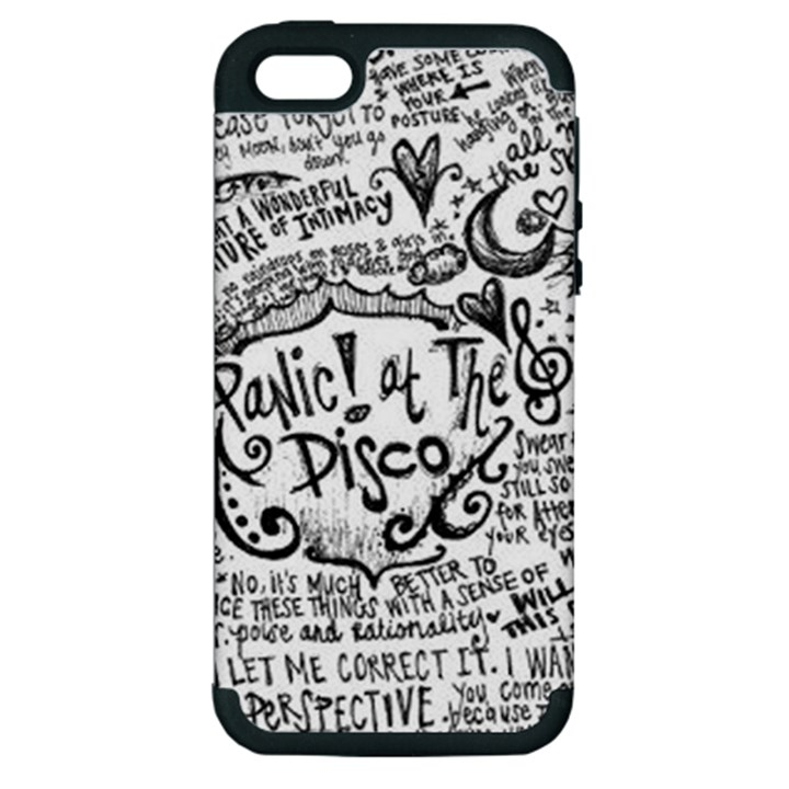 Panic! At The Disco Lyric Quotes Apple iPhone 5 Hardshell Case (PC+Silicone)