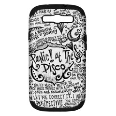 Panic! At The Disco Lyric Quotes Samsung Galaxy S III Hardshell Case (PC+Silicone)