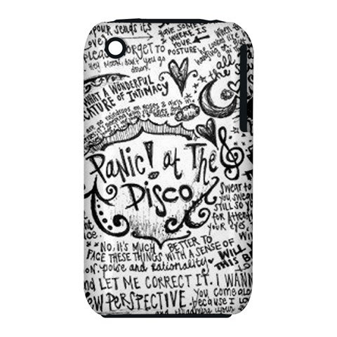 Panic! At The Disco Lyric Quotes Apple iPhone 3G/3GS Hardshell Case (PC+Silicone)