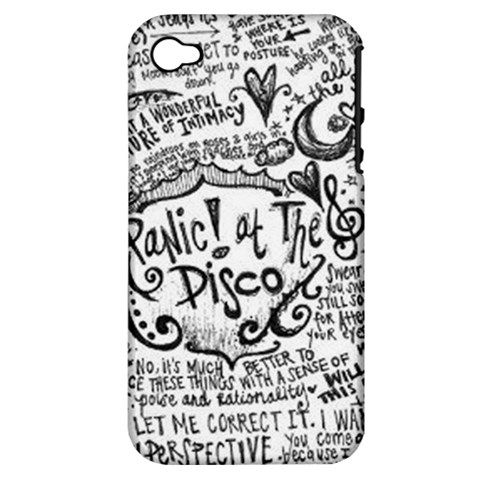 Panic! At The Disco Lyric Quotes Apple iPhone 4/4S Hardshell Case (PC+Silicone)