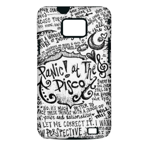 Panic! At The Disco Lyric Quotes Samsung Galaxy S II i9100 Hardshell Case (PC+Silicone)